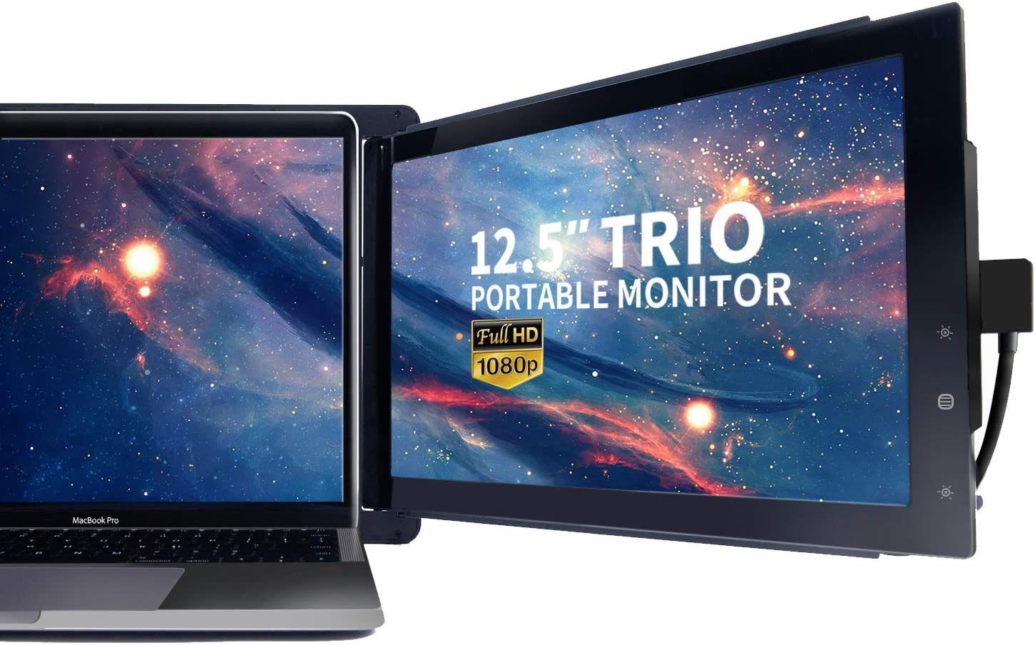 "Trio Portable Monitor for Laptop,9.9"" On-The-Go Dual & Triple Screen 9P  IPS Display Laptop Monitor, USB A/Type-C, Lightweighted, for Mac,"