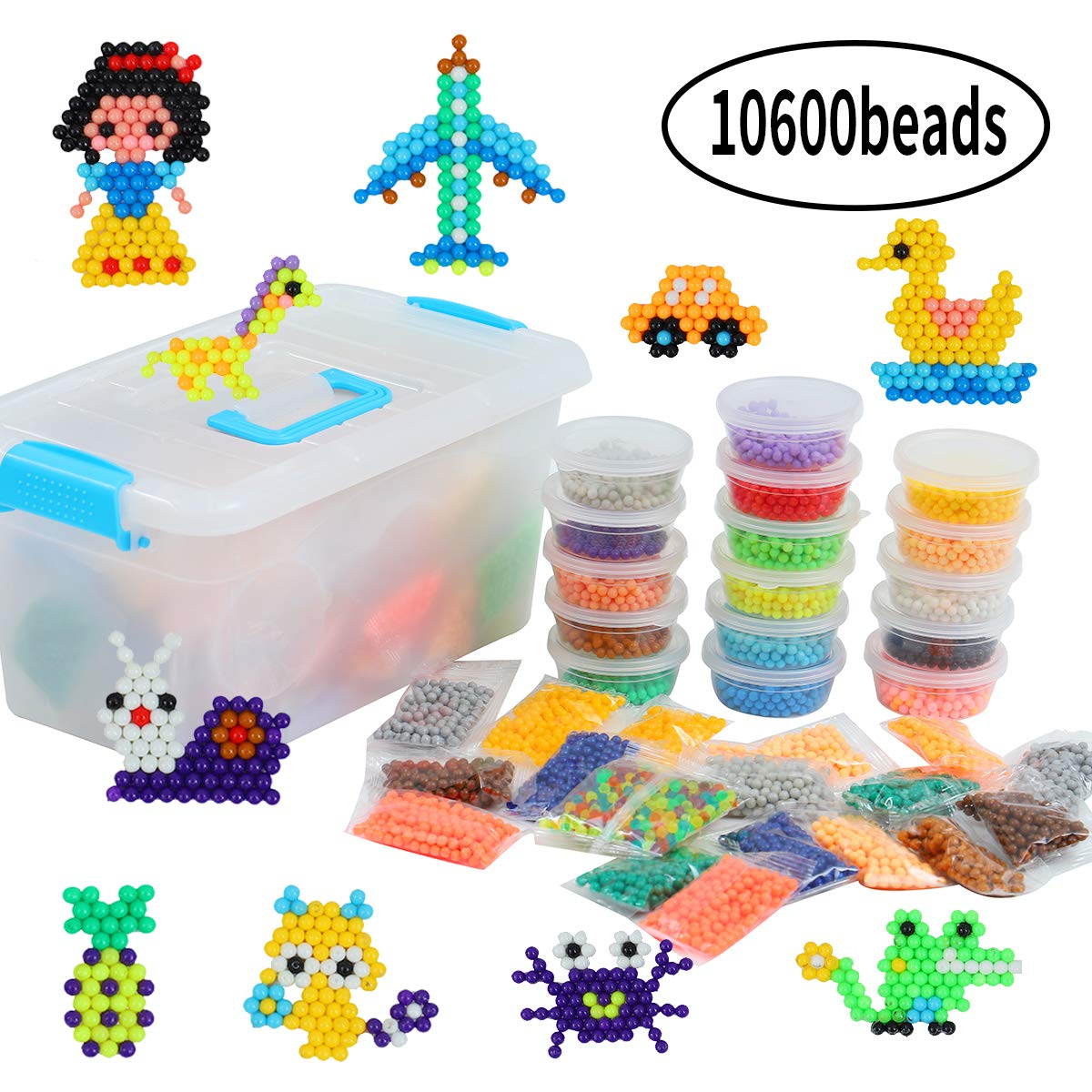 Vigeiya Fuse Beads DIY Art Craft Toys Activity Kit for Kids 24 Colors 10600pcs by Vigeiya
