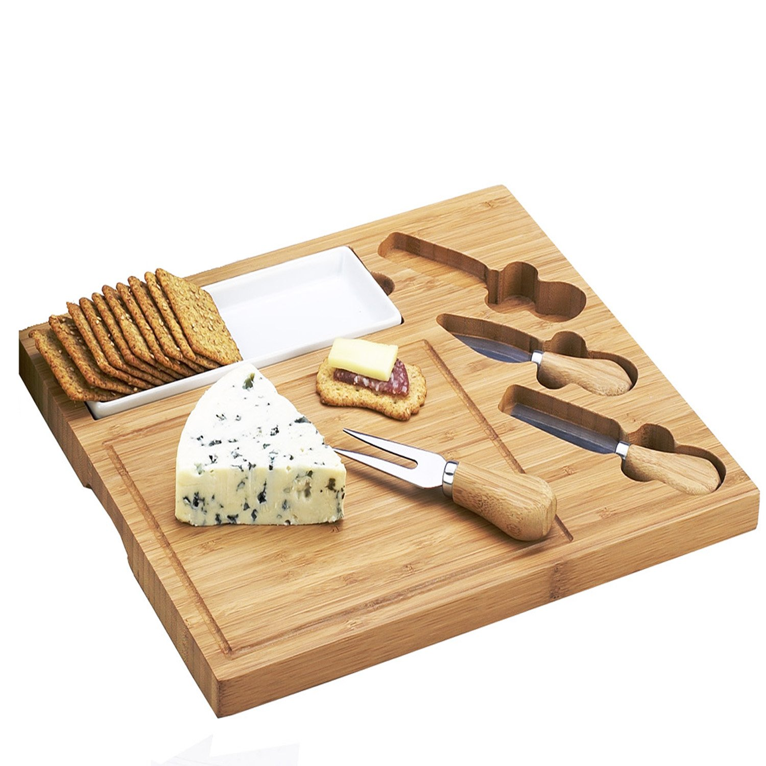 Amazon.com Picnic at Ascot Celtic Bamboo Cheese Board Set with Ceramic Dish and 3 Cheese Tools Kitchen u0026 Dining  sc 1 st  Amazon.com & Amazon.com: Picnic at Ascot Celtic Bamboo Cheese Board Set with ...