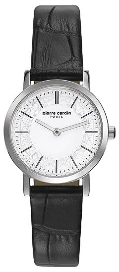 Pierre Cardin Reloj Analogico para Mujer de Cuarzo con Correa en Cuero PC108112F01: Amazon.es: Relojes