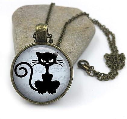 Collar con diseño de gato elfo pequeño, joyería para amantes de los gatos, joyas para gatos,