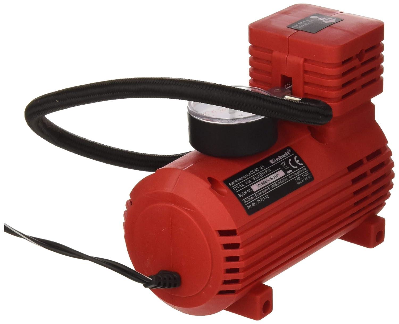 Rosso Pressione 18 Bar Einhell CC-AC 12V Compressore per Auto Tensione 12 V
