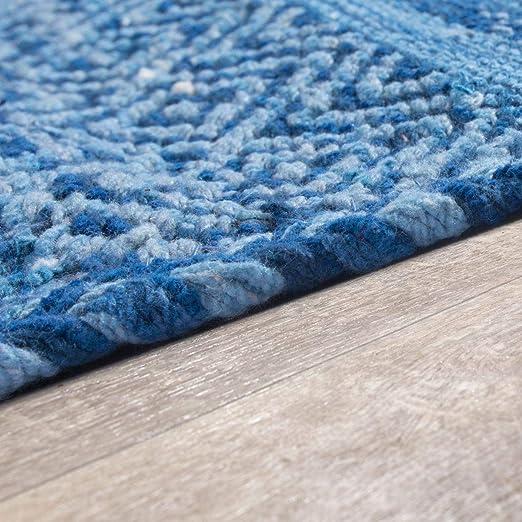 TT Home Tappeto Tessuto A Mano Soggiorno Natura Tappeto Tessuto Kelim Moderno Cotone in Grigio Gr/ö/ße:80x150 cm