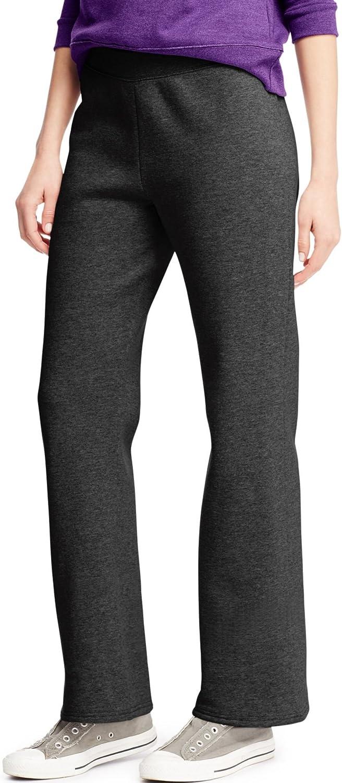 Hanes - Pantalones de forro polar para mujer (pierna abierta ...