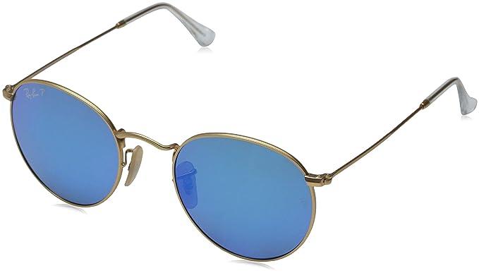Popular Amazon.com: Ray-Ban ROUND METAL - MATTE GOLD Frame BLUE MIRROR  TU21