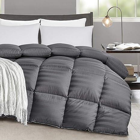 Tremendous Bedding Collection 1000 TC Egyptian Cotton All Sizes Gray Striped