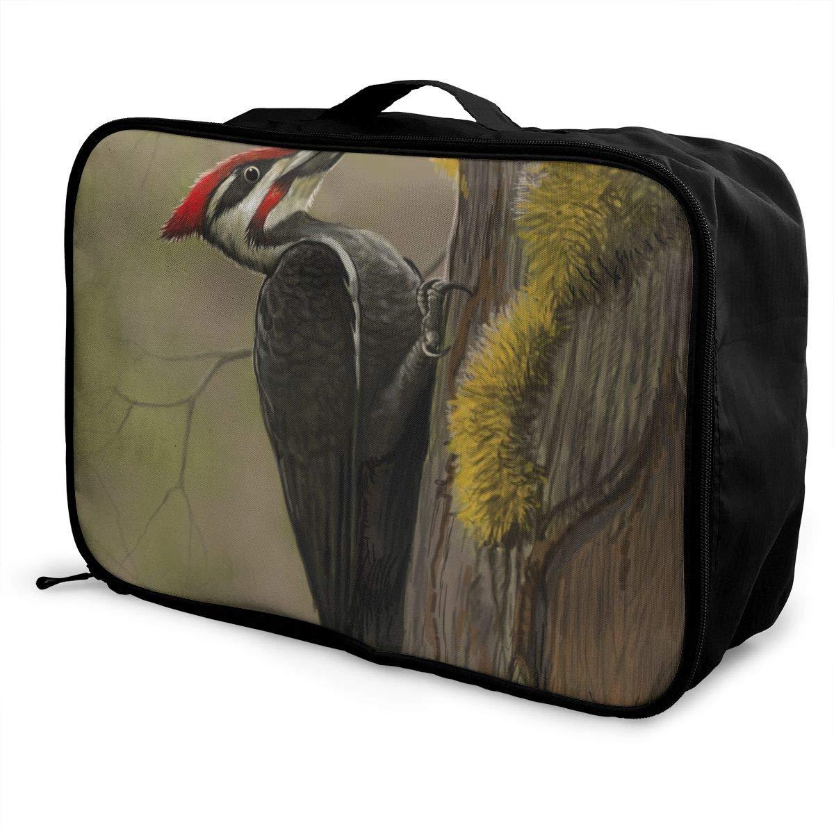 Travel Luggage Duffle Bag Lightweight Portable Handbag Woodpecker Beetle Large Capacity Waterproof Foldable Storage Tote
