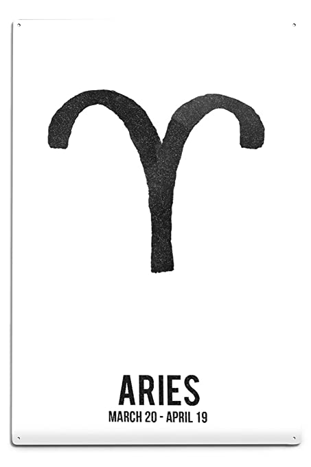Amazon Lantern Press Aries Astrology Zodiac Symbol Ink