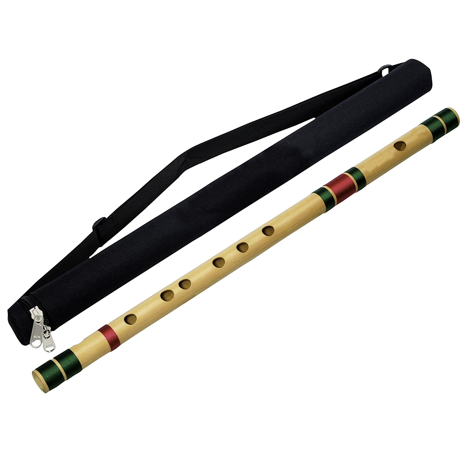 Professional Transverse Bansuri Indian Base Bamboo Flute (C Tune) Musical Instrument Woodwind 36.5 Inches RoyaltyRoute professional_base_flute_c