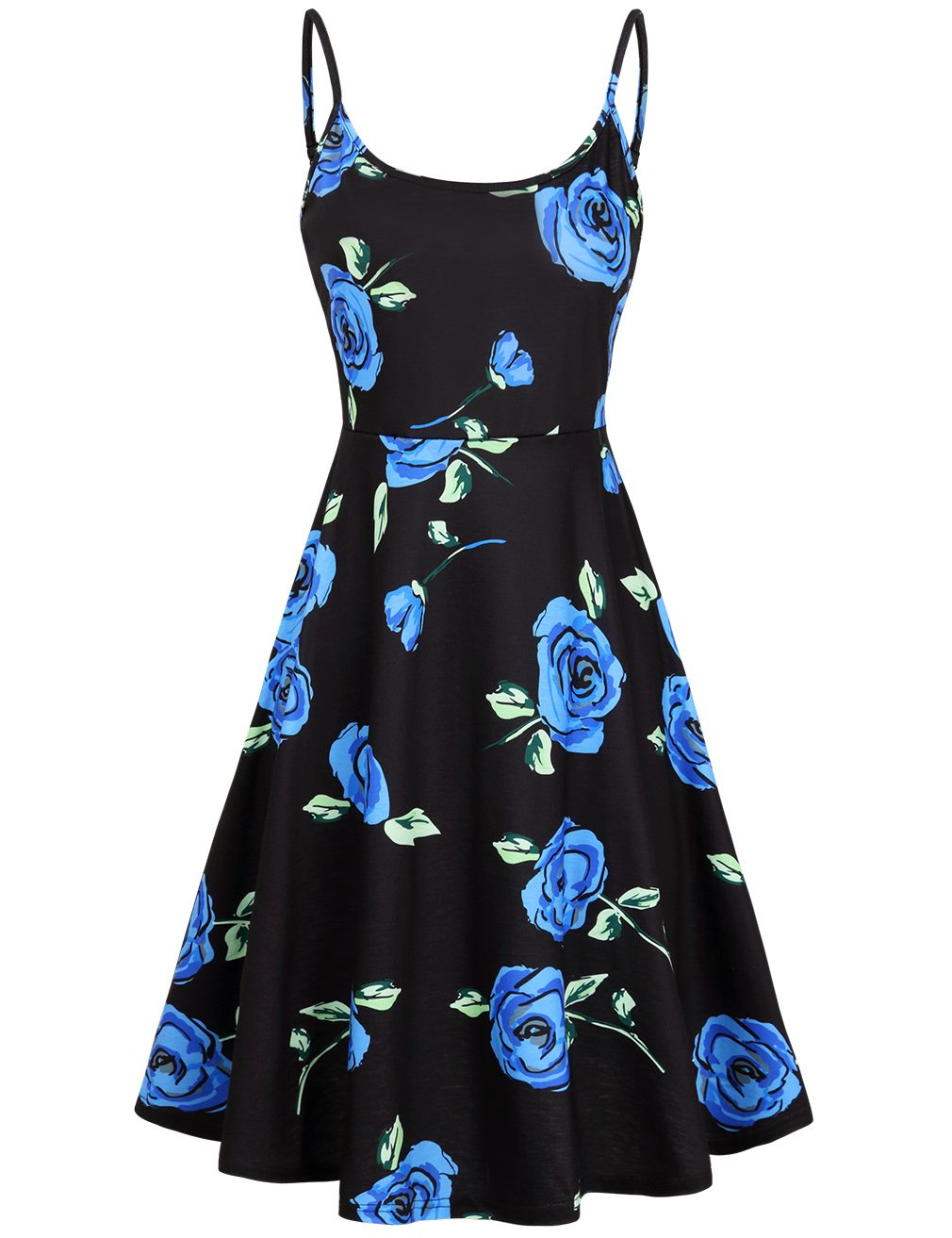 FANVOOK Elegant Dress,Office Ladies Wear to Work Casual Chic Evening Cocktail Dress Blue S
