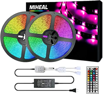 Miheal 65.6ft(20M) 5050 SMD RGB Flexible LED Tape Lights