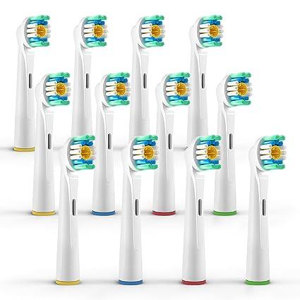 ORAX 12 pzs. (3x4) Cabezales para cepillos Oral B/3D White (EB18), Cabezales de cepillo dientes eléctrico Oral B