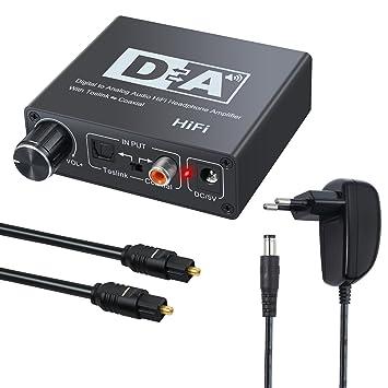 Neoteck 192k DAC Digital a analógico de Audio convertidor Óptico Toslink a Coaxial o Coaxial a