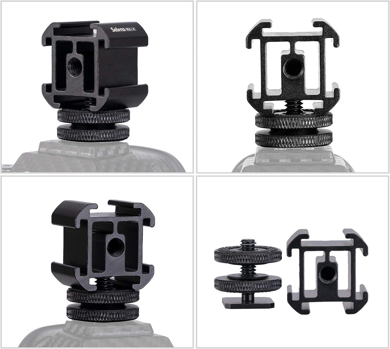 Selens 4 Port Hot Shoe Base Montieren Metall Adapter Halter verl/ängern Mit 1//4 Stativschraube zum SLR Kamera Mikrofon Monitor LED Video Licht