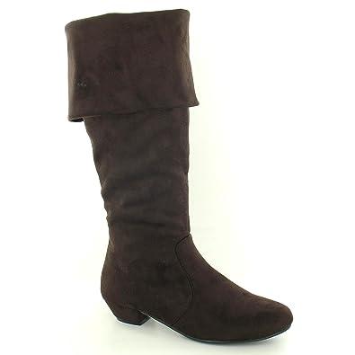 Spot on Damen Stiefel mit Absatz und Reißverschluss (39 EU) (Braun) fLJ3P