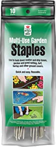Fabric & Garden Staples (Use to Hold Down Soaker and Drip Hoses, Netting, Turf, Burlap and Other Ground Covers) 6 inch, 10 Staples