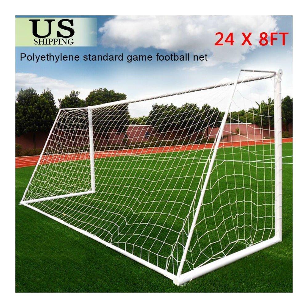 Football Net 24 x 8 ft PE Soccer Goal Post Netsフルサイズスポーツトレーニング一致 B07857XXG2