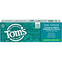Tom's of Maine Clean and Fresh Fluoride Free Natural Toothpaste, Spearmint, 85 mL