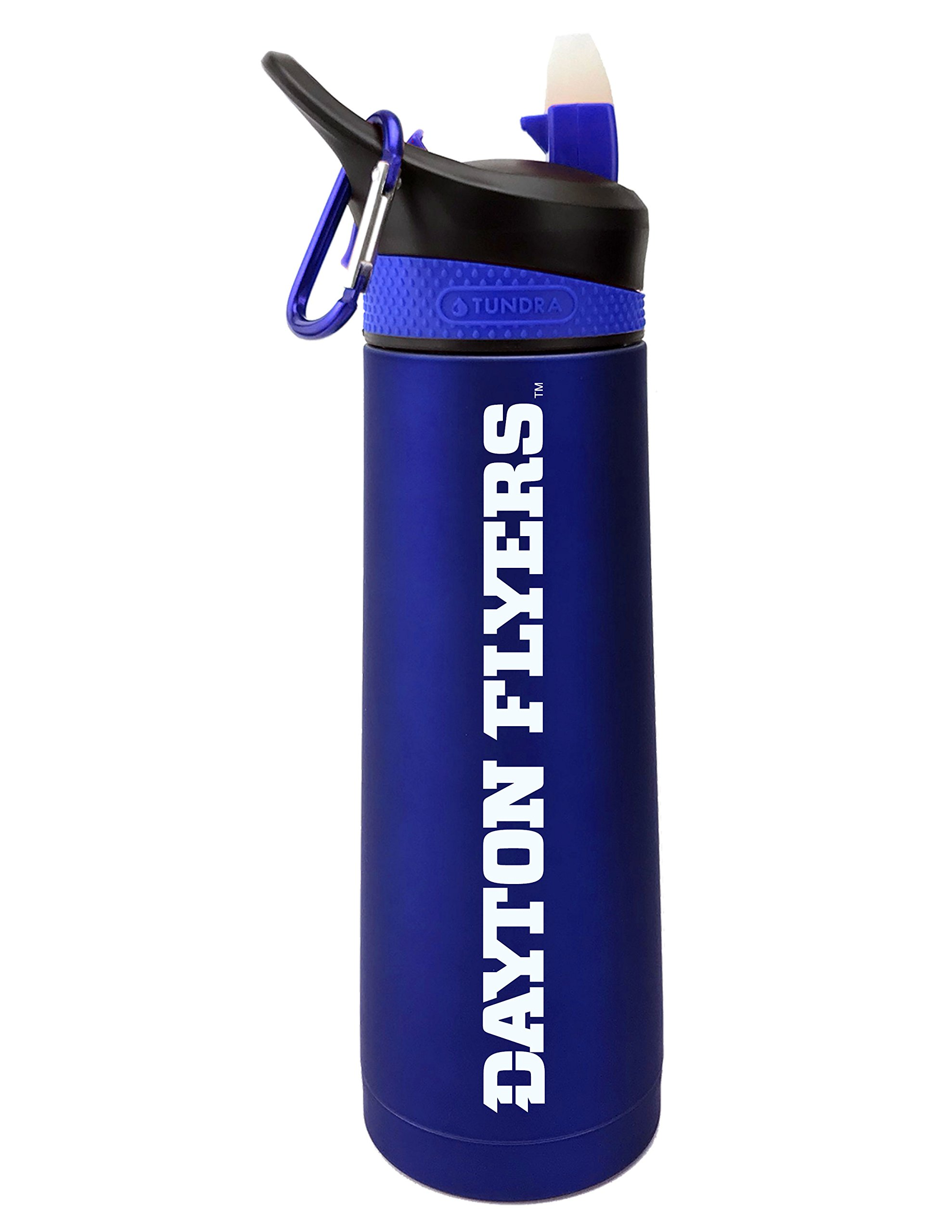 Fanatic Group University of Dayton Dual Walled Stainless Steel Sports Bottle, Design 2 - Blue