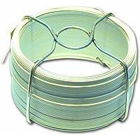 Filpack FGB08 Hilo de acero plastificado - Diámetro exterior 0,8 mm - Largo 75 m - Blanco