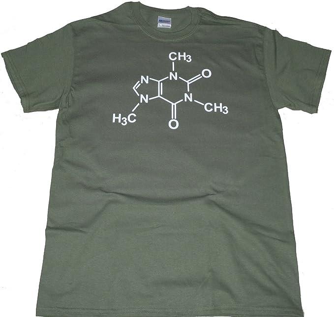 Got-Tee - Alimentado por cafeína café los Amantes de la molécula química Camiseta - Verde -: Amazon.es: Ropa y accesorios