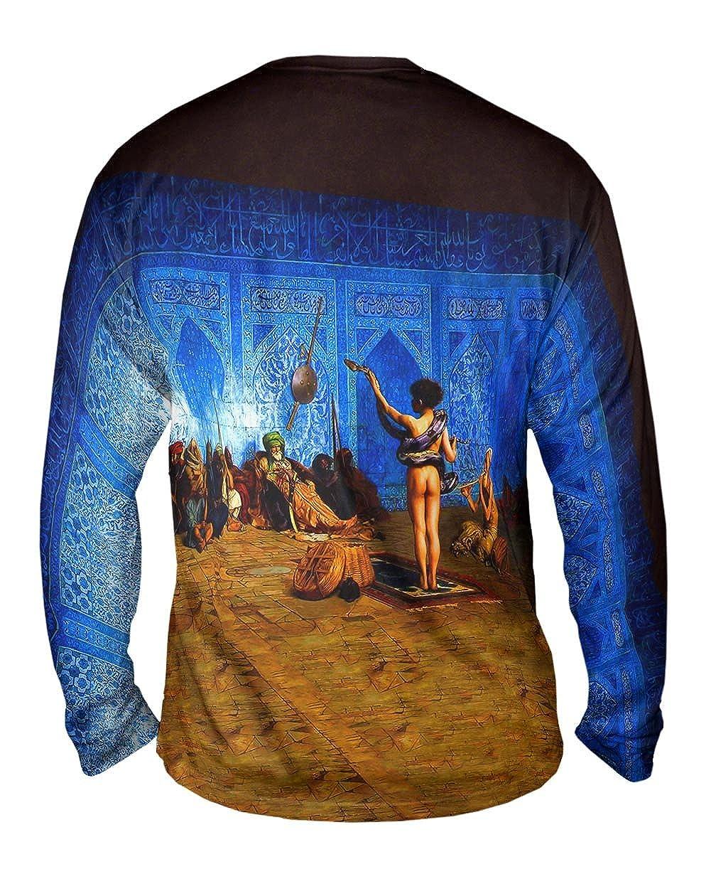 -TShirt- Mens Long Sleeve Yizzam- Jean-Leon Gerome Snake Charmer 1870