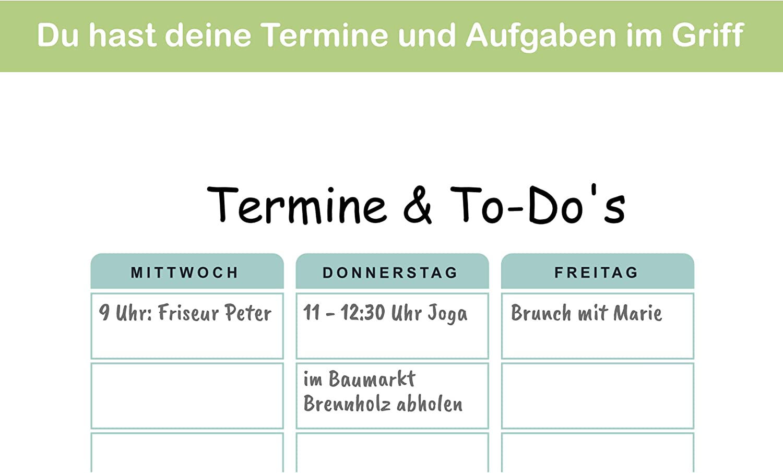 praktischer Terminplaner und To-Do-Liste Aktivit/ätstracker ohne Datum Wochenzielen und Notizen rosa DIN A4 Tagesplaner Wochenplaner Block 50 Blatt inkl