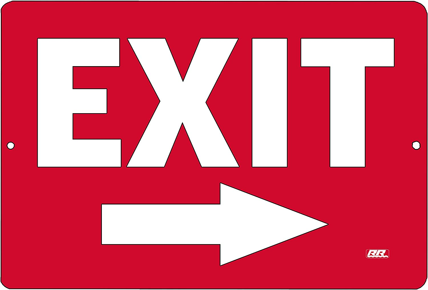 Warning Exit Right Arrow Metal Tin Sign Business Retail Store Home Large Restaurant Bar Office Hotel