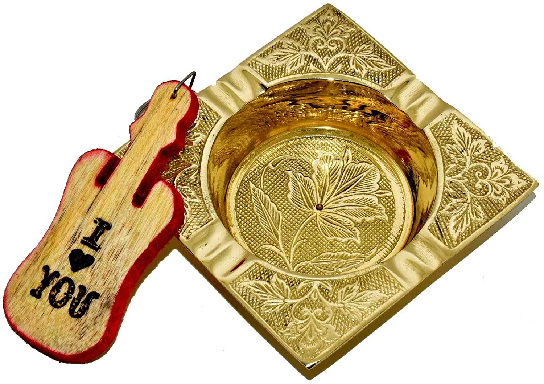 Nautical World Decorative Heavy Square Brass Ashtray