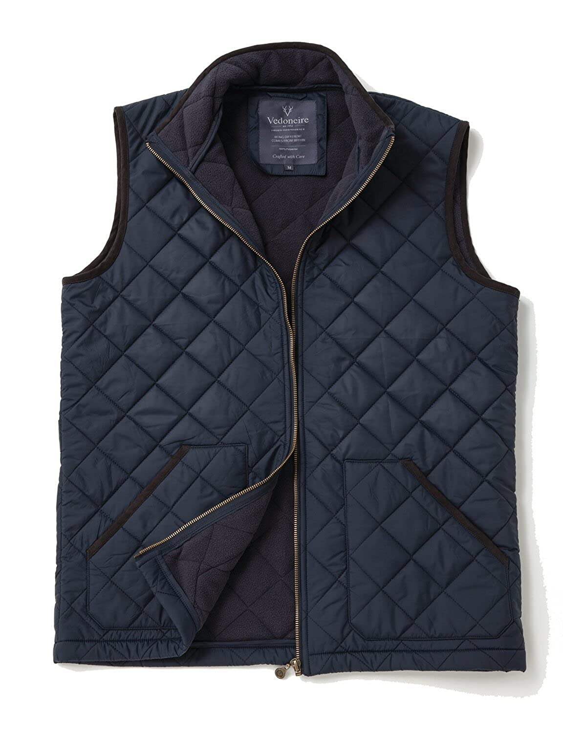 Sleeveless Coat Vedoneire Mens Fleece Lined Quilted Gilet 3024 Navy