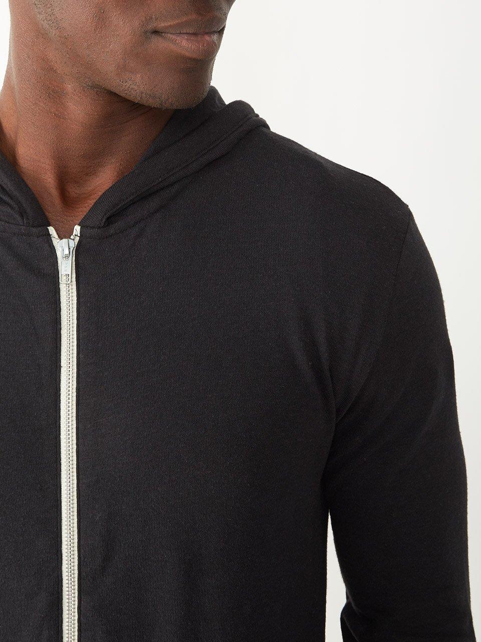 Alternative Men's Eco Zip Hoodie Sweatshirt Shirt, Eco True Black, Medium by Alternative (Image #4)