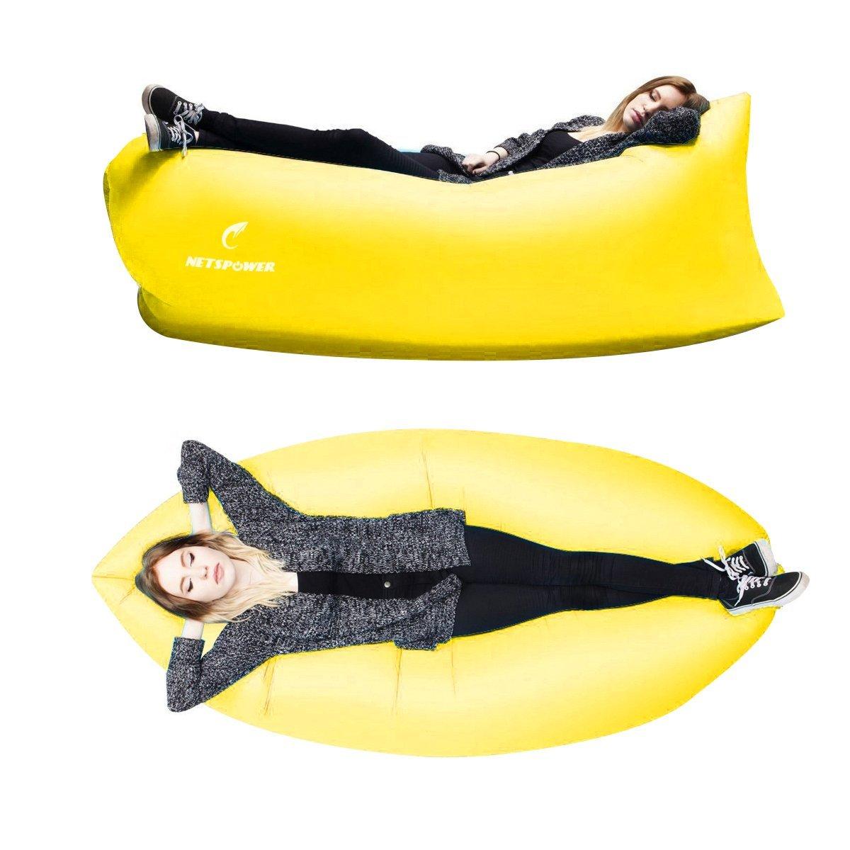 Playa tumbona, fourling Tartan Nylon Plástico hinchable Sacos de dormir para exterior e interior práctico Air inflables Camas Compresión Air Bag ...