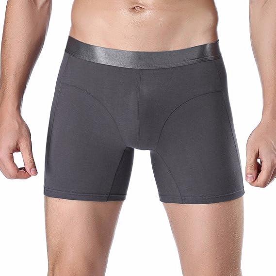 Cebbay Boxer Briefs Liquidación Hombres Suaves Pantalones Cortos Ropa Interior Sexy(Grislarge)