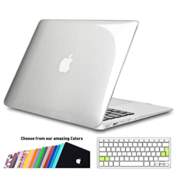 iNeseon Funda MacBook Air 13, Carcasa Delgado Case Duro y Cubierta del Teclado Transparente EU Layout para MacBook Air 13.3 Pulgadas Modelo A1466 y ...