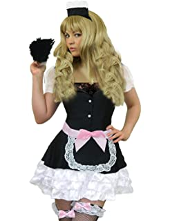 06207d0159281 Yummy Bee Deluxe French Maid Costume Plus Size 8-18 Fancy Dress Ladies  Rocky Horror