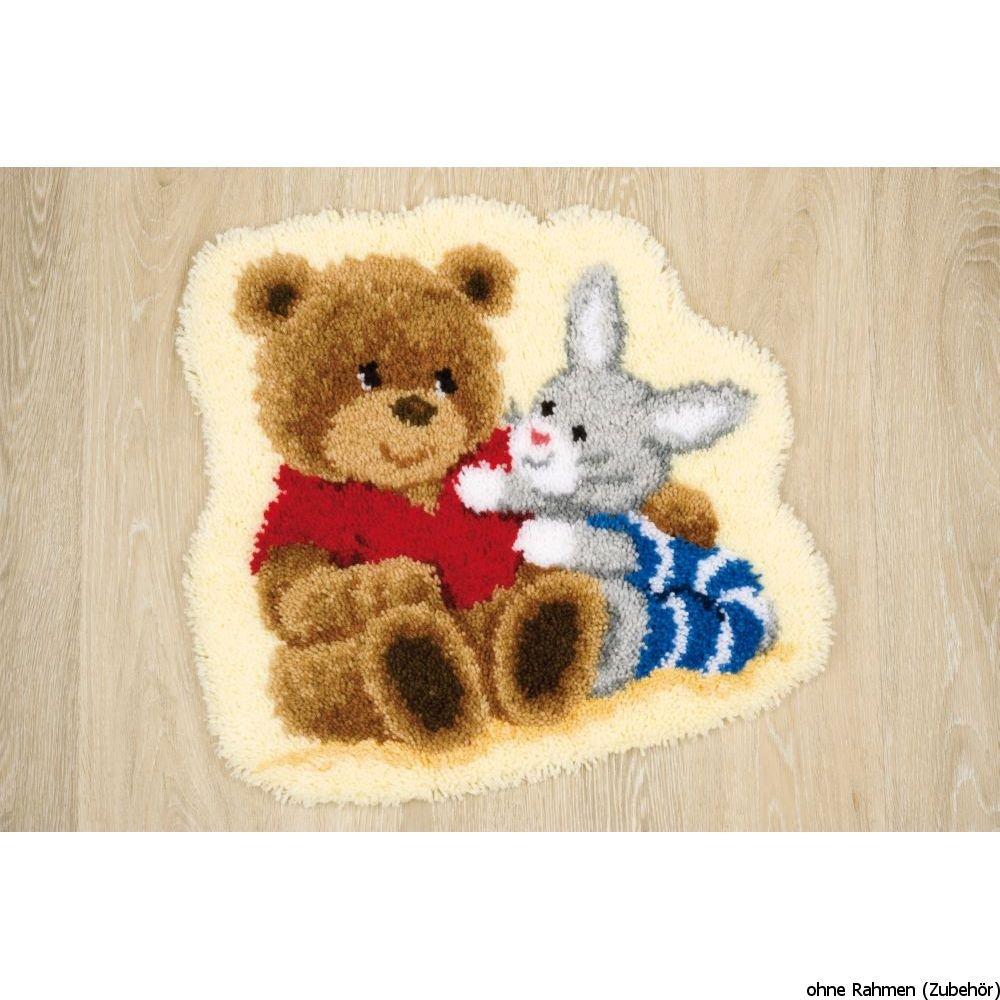 Vervaco Teddy & Rabbit Shaped Latch Hook Kit - Latch Hook Kit PN-0144841