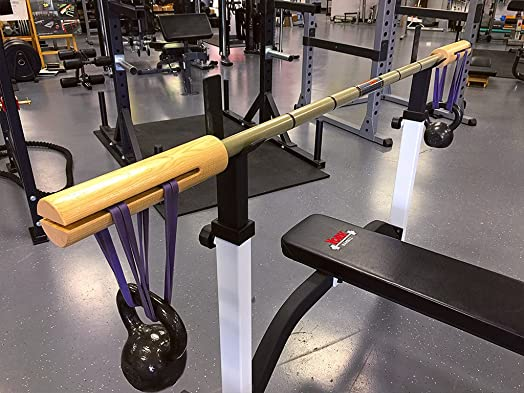 Serious Steel Fitness BandBell Barbell Bamboo Bar Earthquake Bar Rehab, Prehab Injury Prevention , Powerlifting, Strengthen'stabilizing Muscles, Increase Joint Function 1 Bands 1 2 W x 41 L