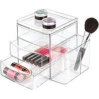 InterDesign Clarity Organizador de cosméticos para Maquillaje y Productos de Belleza, Transparente