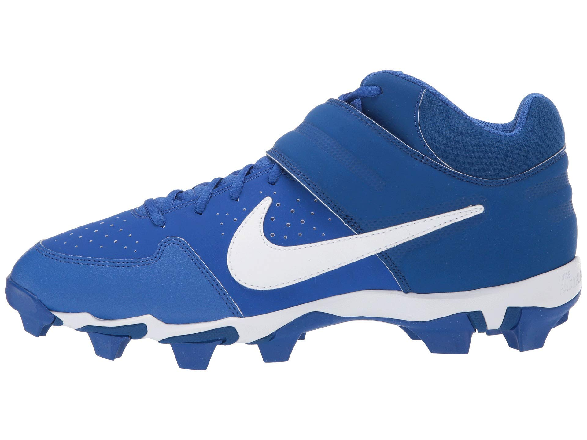Nike Kid's Alpha Huarache Varsity Mid Keystone Football Cleat (5 M US Big Kid, Game Royal/White/Gym Blue) by Nike
