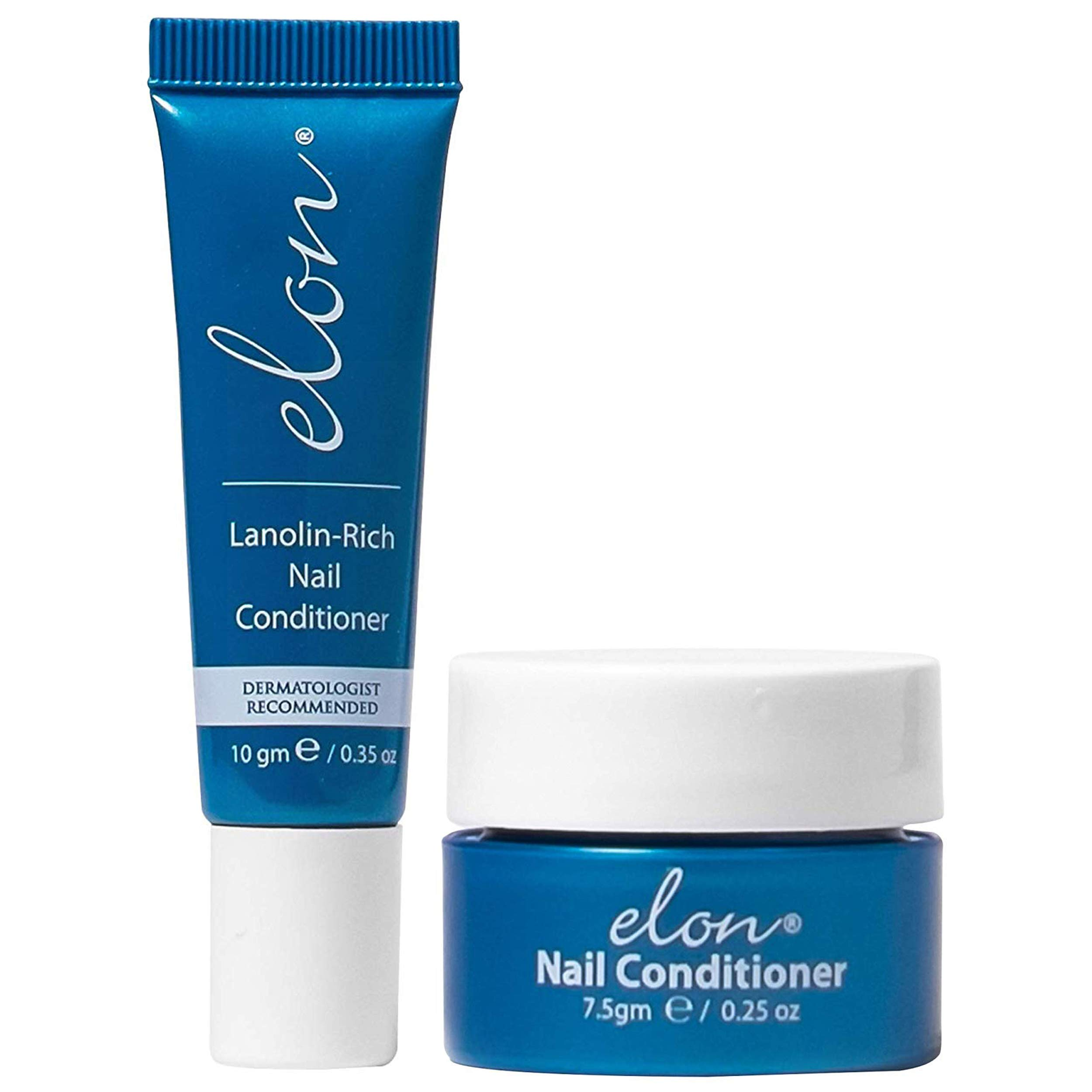 Elon Lanolin - Rich Nail Strengthener 10g Tube + 7.5g Jar   Nail Cuticle Conditioner Cream Repairs, Protects and Strengthens   Recommended by Dermatologists and Podiatrists by Elon