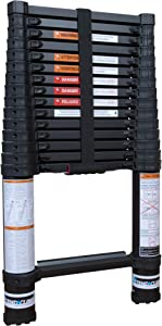 Xtend & Climb Contractor Series 155+ Aluminum Telescoping Ladder, Extension Ladder 15.5 Ft Ladders for Home and Professional Use Folding Ladder, True Telescopic Ladder Technology, Collapsible Ladder