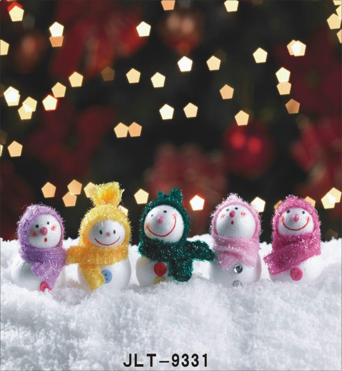 クリスマス小さな雪だるまStar写真照明の背景幕雪フォトスタジオ背景 10X20FT TR-9331-300X600CM 10X20FT 9331 B076PD172Q