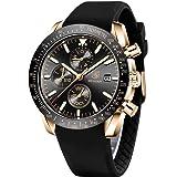 BENYAR Chronograph Mens Watch Quartz Movement 30M Waterproof | Leather Watch Strap | Chronograph |Analogue Watch…