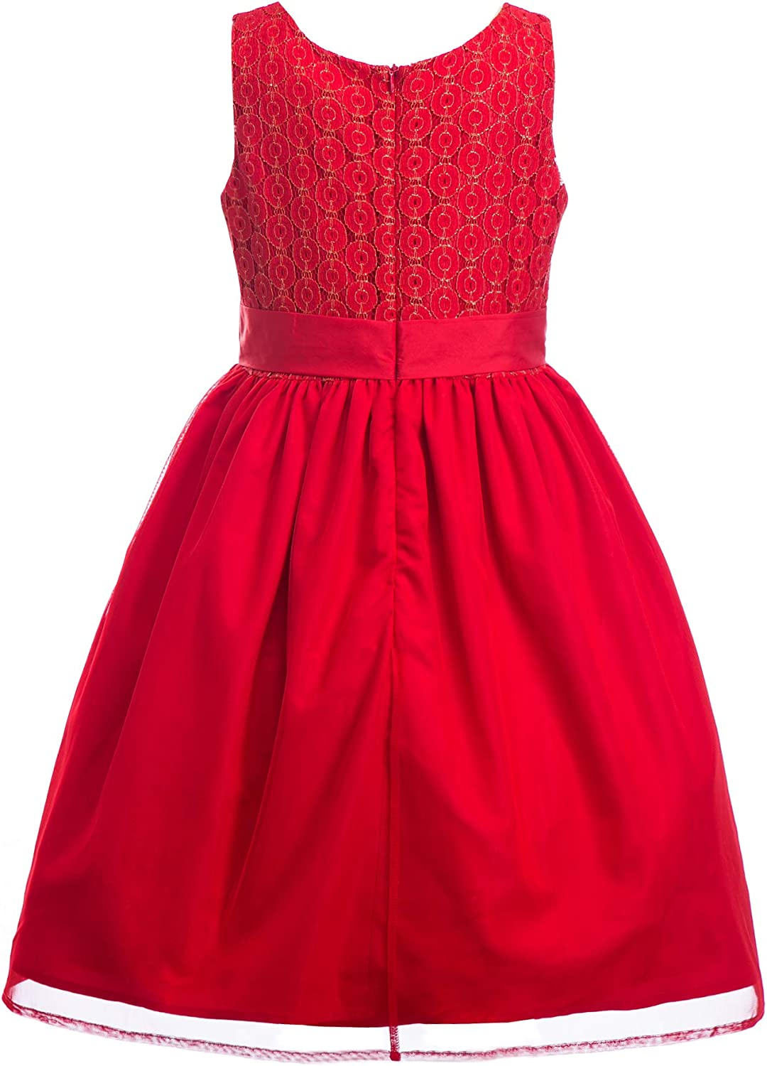 Emma Riley Girls Embroidered Dress Lace Tulle Dress,Wedding//Party