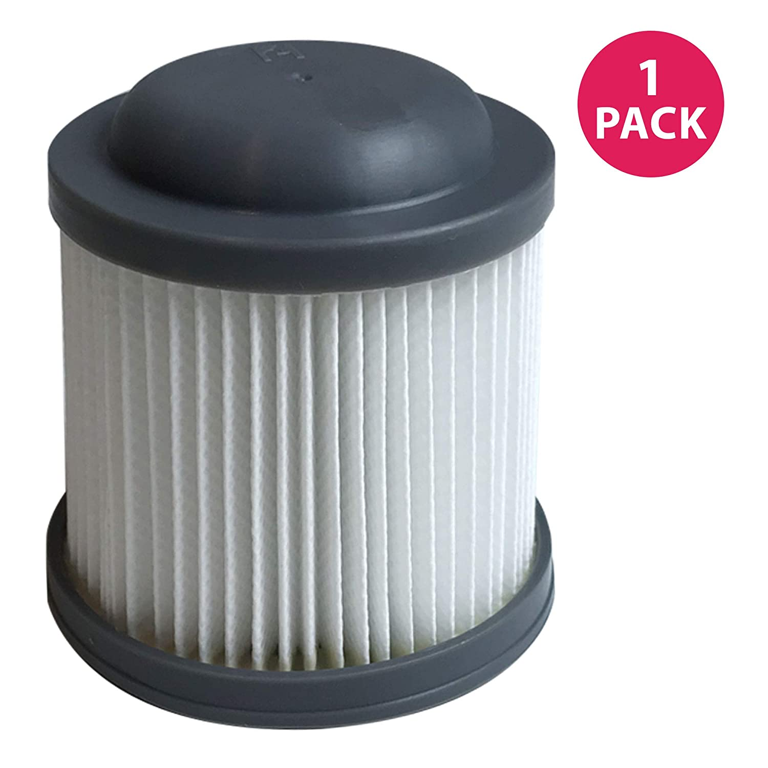 Think Crucial Replacement Vacuum Filters Compatible with Black and Decker Vacuums, Washable and Reusable Filter Part - Parts VF100, VF100H - Fits Model PVF110, PHV1210 and PHV1810 Bulk (1 Pack)