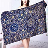 SOCOMIMI Made of 100% Premium Cotton gold and blue ceiling in a muslim mosque islamic traditional religious Lightweight, High Absorbency L39.4 x W19.7 INCH