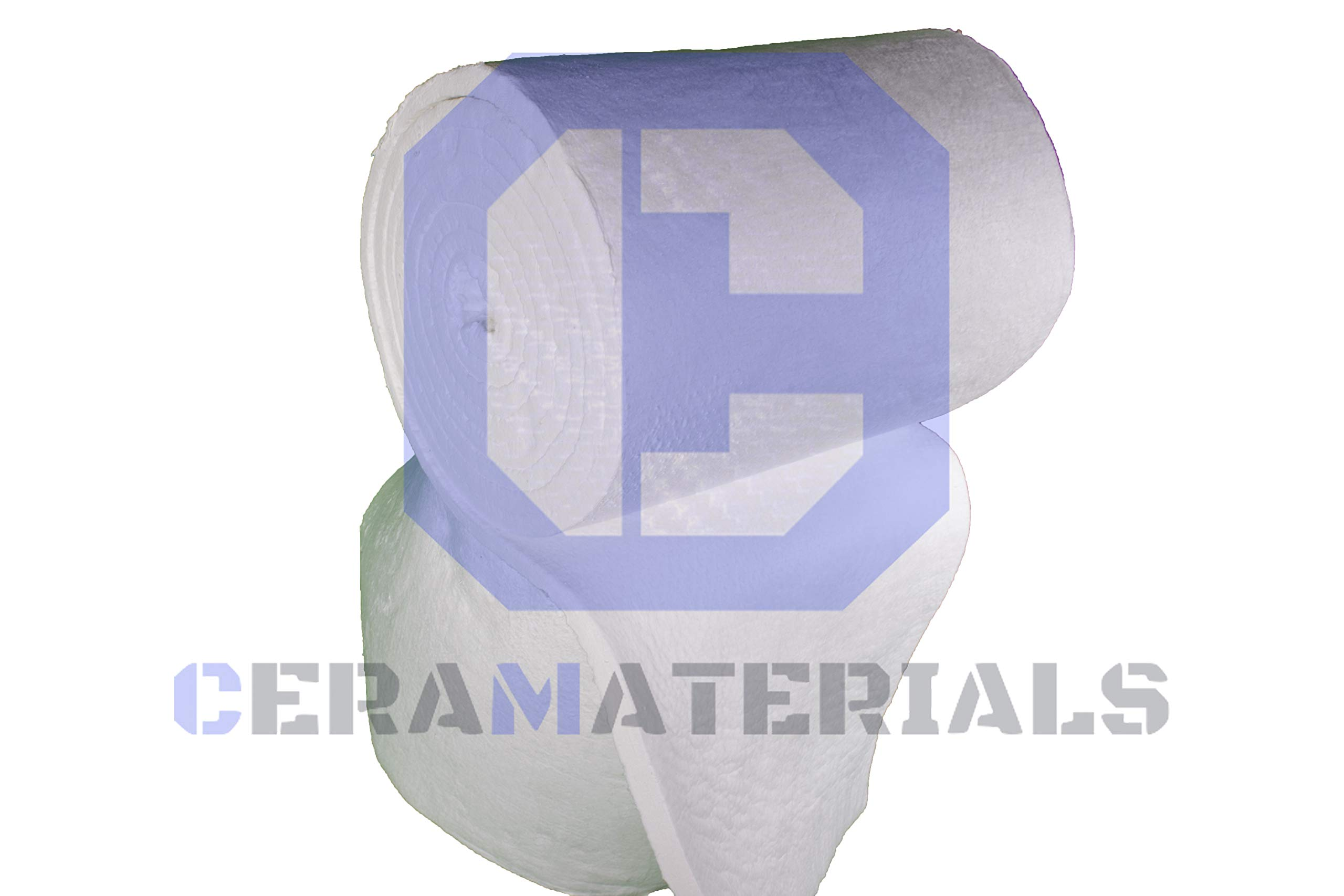 Ceramic Fiber Insulation Blanket 8# lb Density (2'' x 24'' x 3') for Thermal Insulation in Stoves, Fireplaces, Ovens, Kilns, Forges, Furnace and More by CeraMaterials