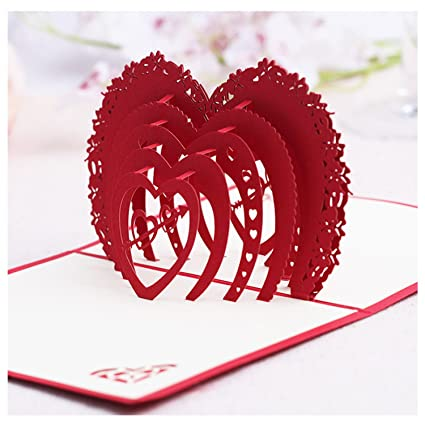 Amazon Com Nacodex Folded Pop Up 3d Greeting Cards Handmade
