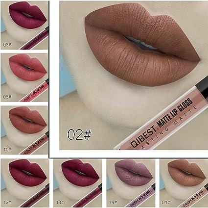 Pintalabios Permanente Labiales Mate Larga Duracion Profesional de Maquillaje 18 Colores para Niñas y Mujer por ESAILQ: Amazon.es: Belleza