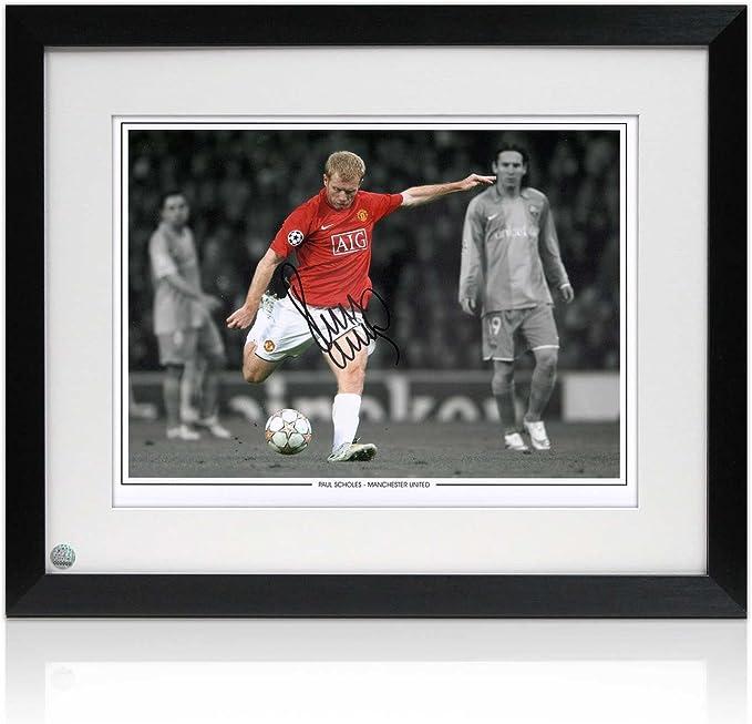 Paul Scholes firmada y enmarcada Manchester United Foto: El objetivo de Barcelona: Amazon.es: Deportes y aire libre